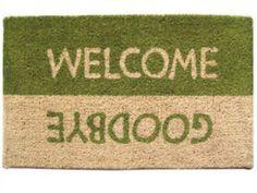 welcome / goodbye doormat