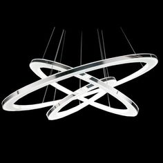 LightInTheBox Pendant Light Modern Design LED Living Three Rings Modern Simple Ceiling Light Fixture Color=Warm White