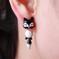 Cute Fox Dangle Earrings  **10 different Styles to Choose From**