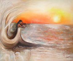 """Art peinture originale: """"la violoniste"""". : Peintures par atelier-les-naturels"""