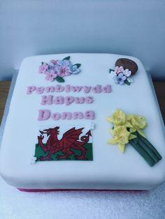Welsh Birthday Cake - Penrhyn Bakes Welsh Lady, Happy Birthday, Birthday Cake, Daffodils, Baking, Happy Brithday, Urari La Multi Ani, Birthday Cakes, Bakken