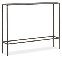 Room & Board - Slim Console Tables in Natural Steel - Modern Console Tables & Storage - Modern Entryway Furniture Slim Console Table, Steel Console Table, Console Table Living Room, Table Storage, Modern Side Table, Modern Console, Modern Furniture Living Room, Modern Console Tables, Modern Table