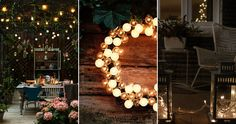 String lights for outdoors, beautiful ideas and inspiration. Diwali Lights, Balcony Lighting, String Lights, Home Accessories, New Homes, Room Decor, Christmas Tree, Table Decorations, Holiday Decor