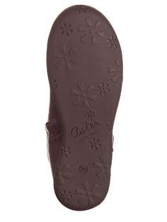 Aster Leder-Stiefel in Lila
