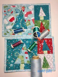 Sandra: Christmas tree mug rugs tutorial