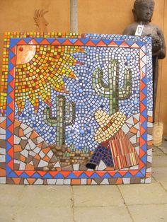 One of the nurses at work liked my Mexican man and - Murales Pared Exterior Sea Glass Mosaic, Mosaic Tile Art, Mosaic Pots, Mosaic Diy, Mosaic Garden, Mosaic Crafts, Mosaic Projects, Glass Tiles, Mosaic Mirrors