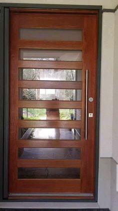 Door Gate Design, House Gate Design, Wooden Door Design, Door Design Interior, Home Room Design, Wooden Doors, Modern Interior Doors, Wood Glass Door, Door And Window Design