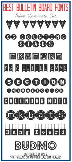 Stuff Students Say and Other Classroom Treasures: Best Bulletin Board Fonts!