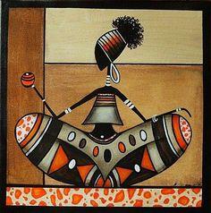 "Tableau ""Rastassis"" New Look : Peintures par sylphide Wal Art, Afrique Art, African Paintings, African Theme, Art Premier, Black Artwork, Inspiration Art, Afro Art, African American Art"