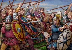 Byzantine legion in battle