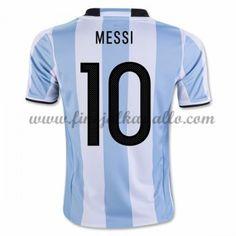 Argentiina Jalkapallomaajoukkue Pelipaidat 2016 Lionel Messi 10 Kotipaita