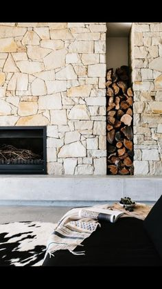 - how to build a fence Building A Fence, Stone Cladding, Home Living Room, New Homes, House Design, Interior Design, Architecture, Fireplaces, Feature Walls