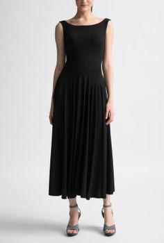 Nadia Tarr Black Boat Neck 3/4 Dress
