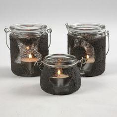 13111 Ljusglas med motiv och strukturfärg