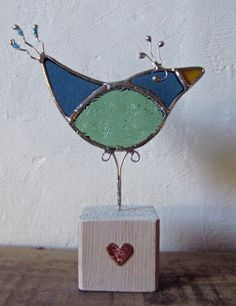 Perky Bird by amandala. Stained glass