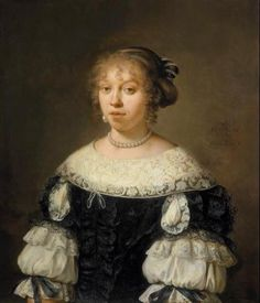 portrait 1670 | ... van den Eeckhout (1621-1674), Portrait of a 19-year old woman , 1670