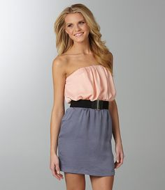 peach & grayyy! worn with black heels it'd be adorable :)
