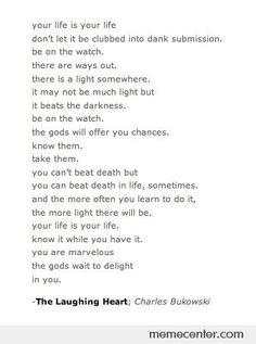 My favorite Bukowski poem