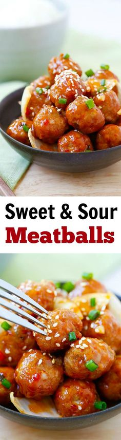Sweet and Sour Meatballs – the best meatballs ever with sweet and ...