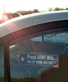 Proud Army Wife.