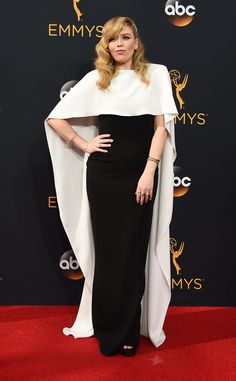 Natasha Lyonne 2016 Emmys Red Carpet...Pretty, change the to bridal tones and fabric to fit the wedding theme.