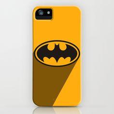 SuperHero long shadow: Batman iPhone & iPod Case