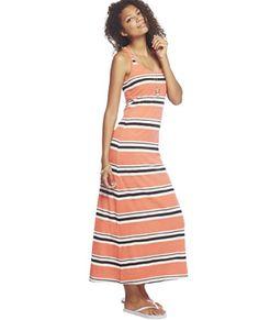 Wet Seal Women's Striped Knot Back Maxi Dress     #Back, #Dress, #Knot, #Maxi, #Seal, #Striped, #Womens