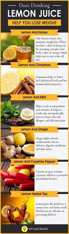 Drinking lemon juice not only helps to burn fat but also takes care of your overall health as it is loaded with vitamin C, dietary fiber, vitamins, and minerals. The best part is, you don't have to go on a low-calorie diet or drink just lemon juice throughout the day to lose weight. Just incorporate lemon juice in your daily diet, and you will see yourself go from flab to fab in no time.