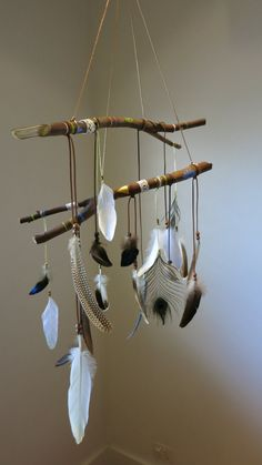 boho dreamcatcher mobile by MistyGypsy on Etsy
