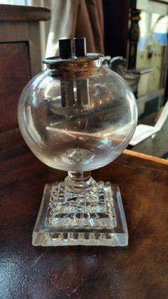 Rare antique miniature whale oil lamp. Antique Lamps, Rare Antique, Lantern Lamp, Lanterns, Lamp Light, Light Up, Kerosene Lamp, Vintage Stuff, Oil Lamps