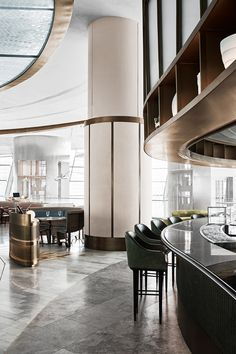 Sean Connolly at Dubai Opera is a 350 person restaurant and bar with external bar and sky garden. The venue includes Raw bar, Fire bar, brasserie, main. Australian Interior Design, Interior Design Awards, Commercial Interior Design, Best Interior Design, Commercial Interiors, Australian Architecture, Interior Ideas, Design Café, Design Studio