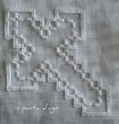 punto quadro aperto        orlo a giorno        woven running stitch        hardanger: i blocchi a punto reale        hardanger: il p...