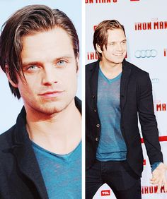 """Sebastian Stan at the """"Iron Man 3"""" premiere in Los Angeles, 2013."""