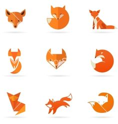 Fox icons and elements vector 4156272 - by ma_rish on VectorStock®