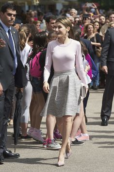 Royals & Fashion - Queen Letizia attended the inauguration of the new edition of the book fair in Madrid.