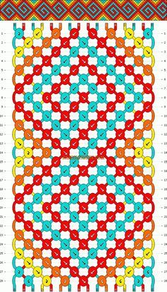 Normal friendship bracelet pattern added by GpailKids. spiral s crazy eight 8 curl curly q. String Bracelet Patterns, Diy Friendship Bracelets Patterns, Simple Friendship Bracelets, Friendship Jewelry, Thread Bracelets, Macrame Bracelets, Bracelets Crafts, Jewelry Bracelets, Embroidery Bracelets