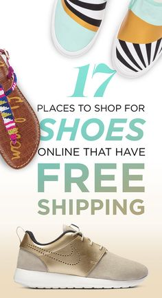 17 Places To Shop For Shoes Online That Have Free Shipping