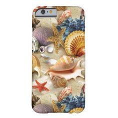 Fancy Seashells at The Beach iPhone 6 Case