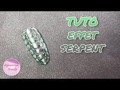 Nail art effet serpent | TUTO - YouTube Aquarium Nails, Serpent, Ongles
