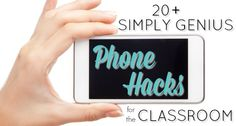 20 genius phone hacks teachers can use to save time in the preschool, pre-k, or kindergarten classroom. Tricks for using your smartphone at school.