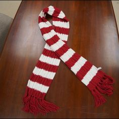 Scarf Final Mark Down!! Red & White Scarf. Brand is aeropostale. Measures approx. 6 ft long without counting fringe and approx 7 inches wide. Make Offer! Aeropostale Accessories Scarves & Wraps