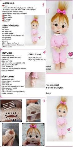Amigurumi Doll İnnocent Baby Free Crochet Pattern - Crochet.msa.plus