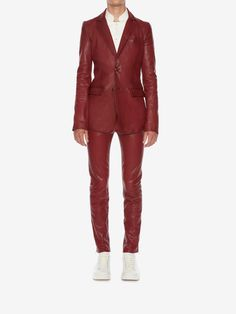Cool leather suit by Alexander McQueen (pre-SS18)