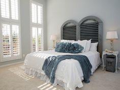 Elegant Diy Deko Ideen Schlafzimmer Ideen Kopfteil Fensterläden