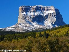 Snow of Chief Mountain, one of the most recognizable mountains in Glacier National Park. This famous mountain is an extremely sacred place for the Blackfeet Nation, and is located along the Chief Mountain International Peace Parkway north of Many Glacier.