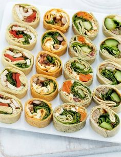 Party Mini Wrap Scheiben Stück), You are in the right place about pinwheel Sandwiches Here we offer you the most beautiful pictures about the Sandwiches cake you are looking for. When you examine the Party Mini Wrap Scheiben Stück), part of the picture … Snacks Für Party, Appetizers For Party, Appetizer Recipes, Party Food Wraps, Party Canapes, Veggie Party Food, Hen Party Food, Canapes Ideas, Sandwich Appetizers