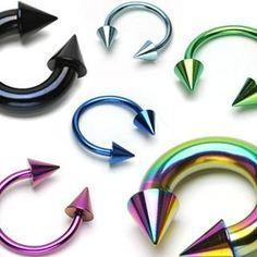 Titanium IP Cone Circular Barbell