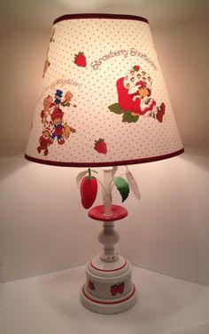 Vintage 1980 Strawberry Shortcake Table Lamp Shade American Greetings Co. My Childhood Memories, Sweet Memories, Strawberry Fields Forever, Vintage Strawberry Shortcake, Holly Hobbie, Fruit Art, Ol Days, Vintage Toys, Retro Vintage