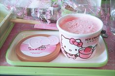 hello kitty strawberry ice cream. WHERE CAN I FIND THIS?! I wonder if its good...