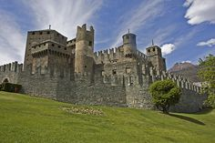 Fenis Castle - Arguably the most beautiful castle in the Valle d'Aosta. Straight from the fairy tales